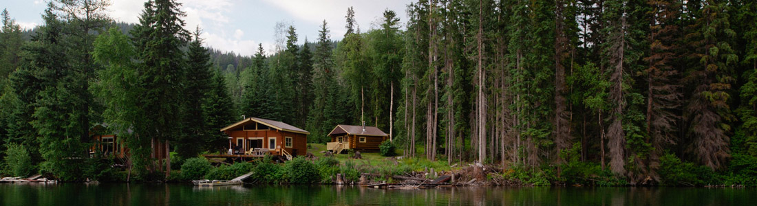 Cabins on the lake panoramic
