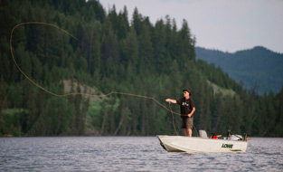 Fishing at Lac des Roches
