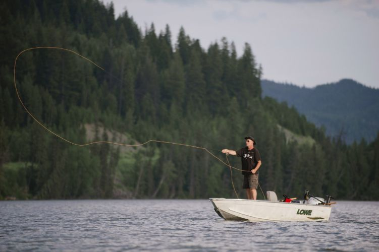 Fly fishing at Lac des Roches
