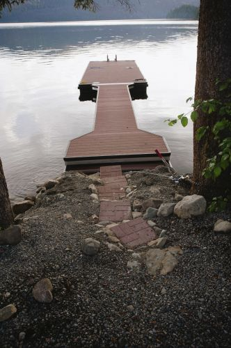 Peaceful Cove dock ready for guests